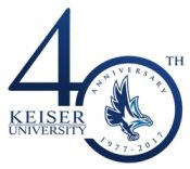 Keiser University 40th Anniversary Logo