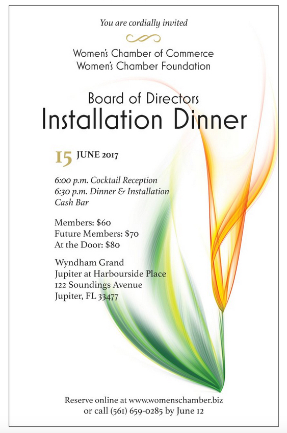 Board of Directors Installation Dinner Flyer